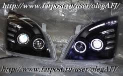 Тюнинговые черные фары для Toyota LAND Cruiser Prado 120