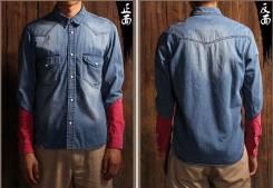 Рубашки джинсовые. 44