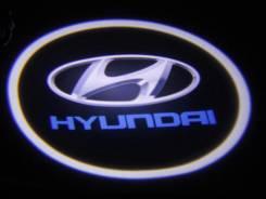 Подсветка в дверь с логотипом авто 3D. Hyndai. Hyundai