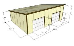 Гаражи из сендвич-панелей, домики, склады, любые конструкции.