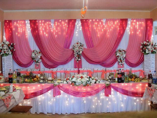 Фото по украшению свадебного зала