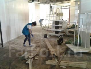 Уборка после строительства.