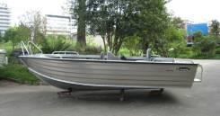 Продам цельно сварную алюминивую лодку. Год: 2013 год, длина 4,90м., двигатель подвесной, бензин