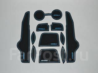 Коврики антискользящие. Toyota Corolla, ADE150, AZE141, NDE150, NRE150, ZRE142, ZRE151, ZZE150 Двигатели: 1ADFTV, 1NDTV, 1NRFE, 1ZRFAE, 1ZRFE, 2AZFE...