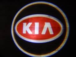 Беспроводная лазерная проекция логотипа в двери KIA