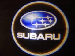 Беспроводная лазерная проекция логотипа в двери Subaru