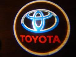 Беспроводная лазерная проекция логотипа в двери Toyota. Toyota Mark II