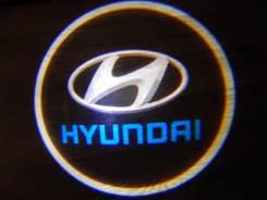 Беспроводная лазерная проекция логотипа в двери Hyundai