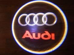 Беспроводная лазерная проекция логотипа в двери AUDI
