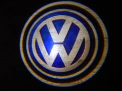 Беспроводная лазерная проекция логотипа в двери Volkswagen