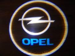 Беспроводная лазерная проекция логотипа в двери Opel. Opel Vectra, C