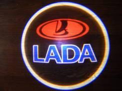 Беспроводная лазерная проекция логотипа в двери LADA. Лада