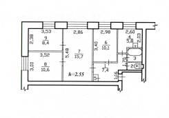 4-комнатная, Площадь Победы 12. Центральный, частное лицо, 62 кв.м. План квартиры