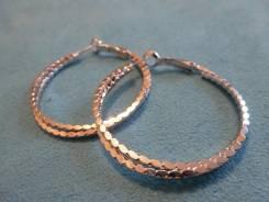 Серьги-кольца.