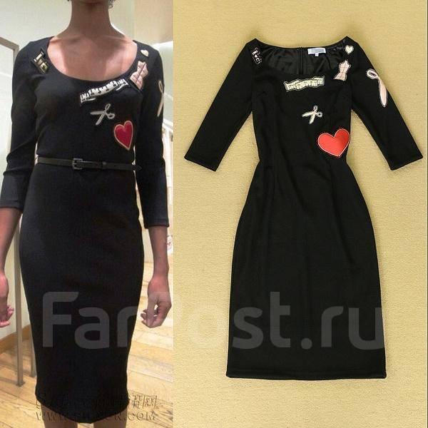 Черные платья москино