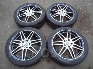 Комплект колес RAYS R17 5х114 с резиной 215/45/17 лето. 7.0x17 5x114.30 ET48