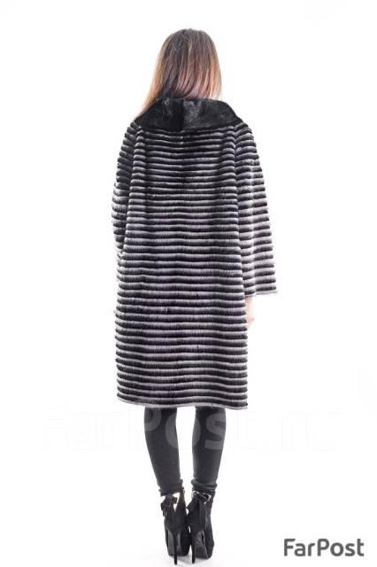 пальто из вязаной норки верхняя одежда во владивостоке
