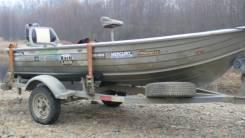 Лодка алюминиевая Savage. Год: 2005 год, длина 3,65м., двигатель подвесной, бензин