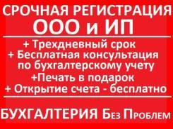 Регистрация ООО, ИП. Срочно. Под ключ. Дешево. +1мес. бесплатной бухгалтерии