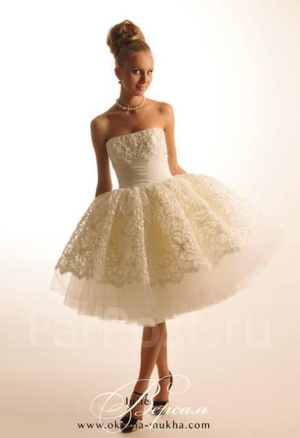 Короткое оригинальное свадебные платья