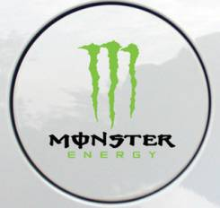 Наклейка стикер Subaru Monster energy на бензобак