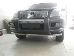 Молдинг решетки радиатора. Toyota Land Cruiser Prado