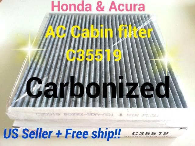 Фильтр салона. Acura: MDX, RDX, TSX, RLX, ILX, RL, ZDX, TL Honda: Accord, Accord Tourer, Civic, Crosstour, MDX, Ridgeline, CR-V, Odyssey, Legend, Pilo...
