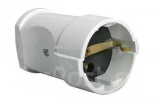 Вилка электрическая : Штепсель Makel 10003 белый