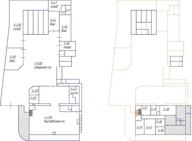 Офисные помещения. 72кв.м., улица Маковского 48а, р-н Седанка. План помещения