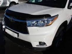 Дефлектор капота. Toyota Highlander, ASU50, GSU50, ASU50L, GSU55, GSU55L, GVU58 Двигатели: 1ARFE, 2GRFE, 2GRFXE