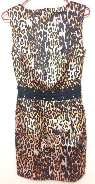 Леопардовое платье лав репаблик