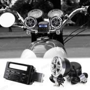 Аудиосистема MT-723 на мотоцикл (квардоцикл, скутер), часы, радио
