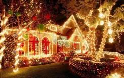 Новогоднее оформление фасадов! Декоративная подсветка!