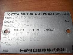 Передняя часть автомобиля. Toyota Mark II, LX90 Двигатель 2LTE