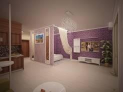 Новострой на Леонова 66 ремонт по дизайн проекту. Тип объекта 2 ком.+с.у.+кухня+кабинет+гардеробная+прихожая, срок выполнения 3 месяца
