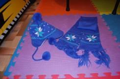 Шапка и шарф. Рост: 80-86 см