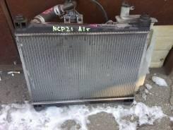 Радиатор охлаждения двигателя. Toyota Funcargo, NCP21 Двигатель 1NZFE