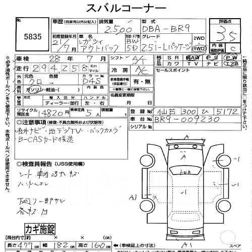 Накладка на фару. Subaru Legacy, BRF Subaru Outback, BR9 Двигатели: EJ36D, EJ25, EJ253