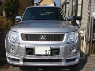 Накладка на бампер. Mitsubishi Pajero, V83W, V93W, V88W, V97W, V98W. Под заказ