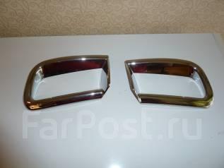 Хромированные накладки на задний бампер Ленд крузер прадо 150. Toyota Land Cruiser Prado, GRJ150L, GDJ150L, KDJ150L, TRJ150, GRJ150W, TRJ150W, GDJ150W...
