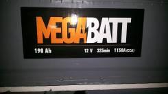 Mega Batt. 190 А.ч., правое крепление, производство Россия