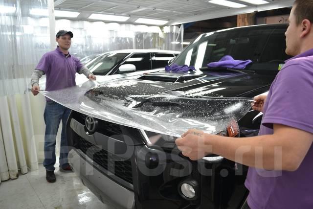 Оклейка автомобиля защитной пленкой. Деталь: 1/3 капота