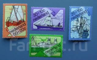 1973 Нидерланды. Парусники, корабли. 4 марки. Чистые