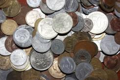 Коллекция монет 100 шт. , 25разных стран мира.