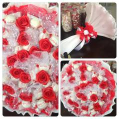 Букет конфет рафаэлло подарок Подарки на выпускной