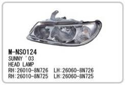 Фара. Nissan Bluebird Sylphy, QNG10, QG10, TG10, FG10, G10 Nissan Sunny