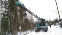 Komatsu. Кран - Ямобур - Вышка на гусеничном ходу LC - 755, 4 600 куб. см., 5 000 кг.