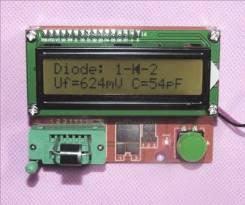 Тестер полупроводников ESR. без корпуса (измеритель емкости и ЭПС конденсаторов, индуктивности, сопротивления, тестер транзисторов, диодов)