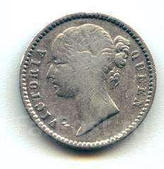Индия Британская 1/4 рупии 1840 Серебро