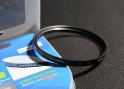Новый качественный защитный UV фильтр Green. L 62мм. Для Всех, диаметр 62 мм